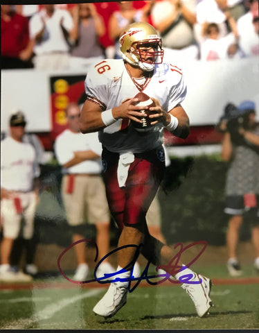 Chris Weinke Autographed 8x10 Football Photo Florida State Seminoles