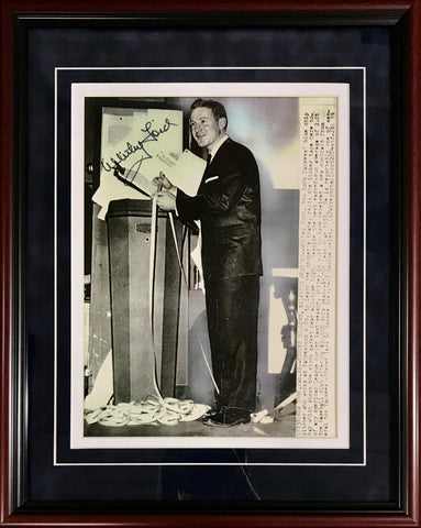 Whitey Ford Autographed Framed 11x14 New York Yankees Photo