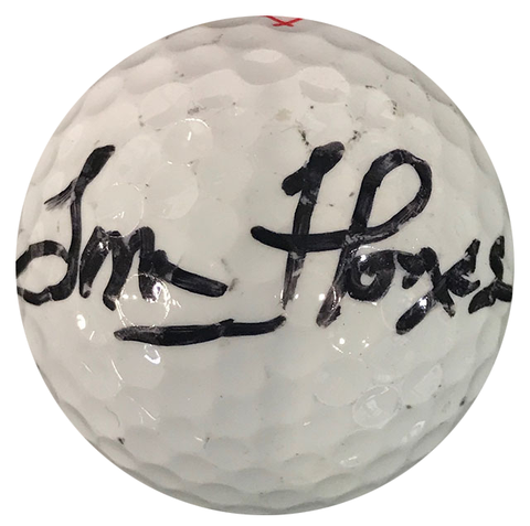 Tom Flores Autographed Titleist 4 Golf Ball