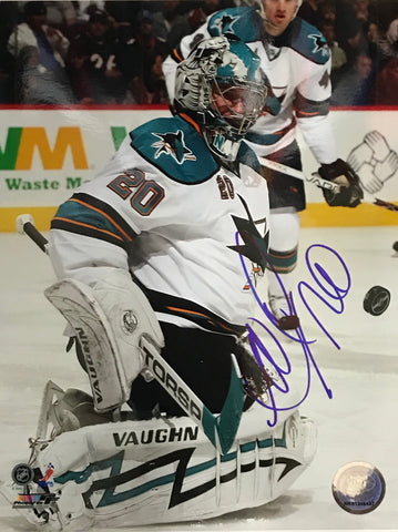 Evgeni Nabokov Autographed San Jose Sharks 8x10 Photo