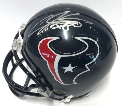 Andre Johnson Autographed Houston Texans Mini Helmet (JSA)
