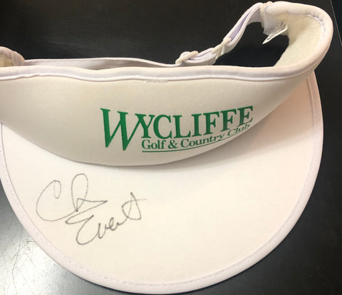 Chris Evert Autographed Wycliffe Golf Club Visor Hat