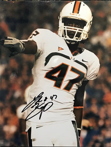 LaRon Byrd Autographed 8x10 Football Photo - University of Miami
