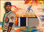 Adbert Alzolay Autographed 2020 Topps Inception Rookie Jersey Card