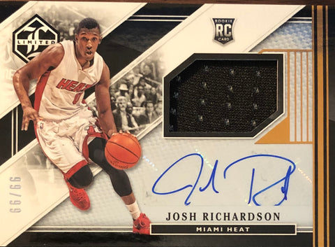 Josh Richardson Autographed 2015-16 Panini Limited Rookie Jersey Card