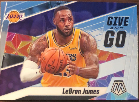 LeBron James 2019-20 Panini Mosaic Give and Go Insert Card