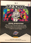 John Stockton 2019-20 Panini Mosaic Old School Insert Card