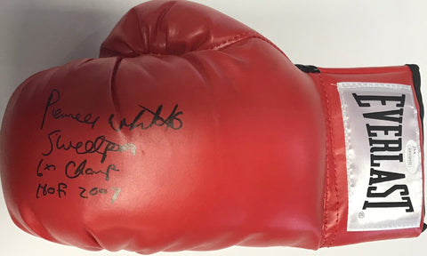 Pernell Whitaker Autographed Red Everlast Left Boxing Glove (JSA)