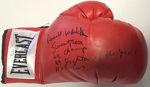 Pernell Whitaker Autographed Red Everlast Right Boxing Glove (JSA)