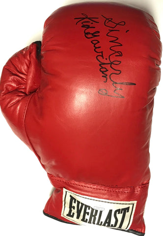 Kid Gavilán Autographed Red Everlast Right Boxing Glove (JSA)