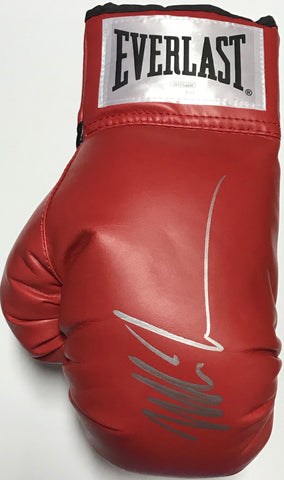 Mike Tyson Autographed Red Everlast Left Boxing Glove (JSA)