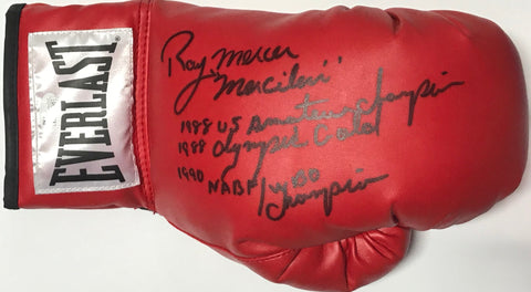 Ray Mercer Autographed Red Everlast Left Boxing Glove (JSA)