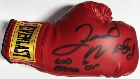 Floyd Mayweather Jr Autographed Red Everlast Right Boxing Glove (JSA)