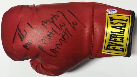 Hector Camacho Autographed Red Everlast Right Boxing Glove (JSA)