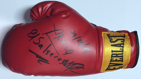 Alexis Arguello Autographed Red Everlast Left Boxing Glove