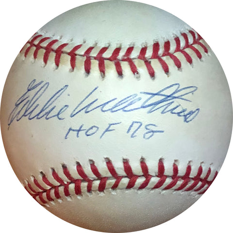 "Eddie Mathews ""HOF 78"" Autographed Baseball"