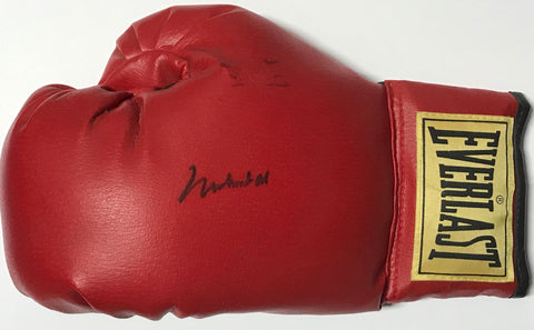 Muhammad Ali Autographed Red Everlast Left Hand Boxing Glove (JSA)
