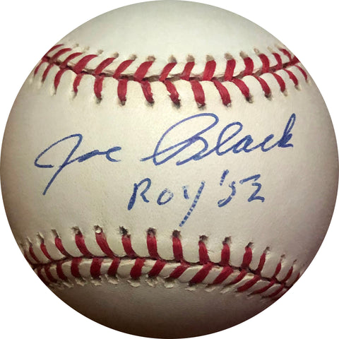 "Joe Black ""ROY 52"" Autographed Jackie Robinson 50th Anniversary Baseball"