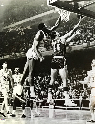 Bill Russell Autographed 16x20 Basketball Photo (PSA)