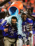 Urban Meyer & Dallas Baker Autographed 16x20 Football Photo