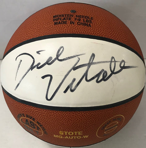 "Dick Vitale Autographed TAAC ""The Rock"" White Panel Basketball"