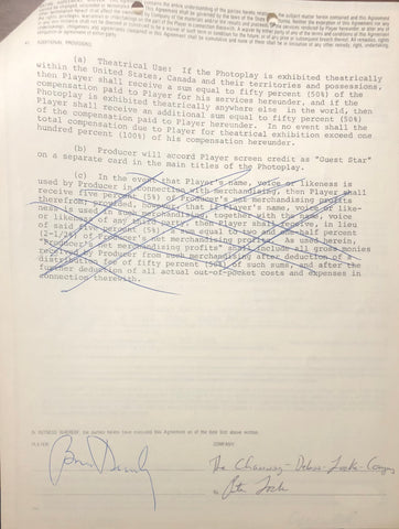 Brian Dennehy Autographed Contract (JSA)