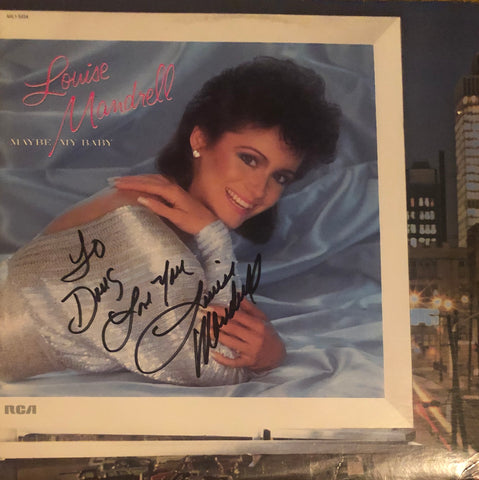 "Louis Mandrell Autographed ""Maybe My Baby"" Vinyl Record (JSA)"