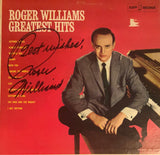 "Roger Williams Autographed ""Greatest Hits"" Vinyl Record (JSA)"