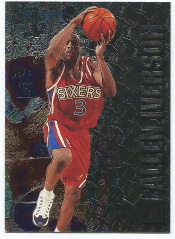 1996-97 Fleer Metal #201 Allen Iverson Card