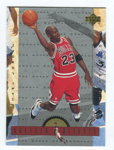 1996 Upper Deck Greater Heights #GH6 Michael Jordan Card
