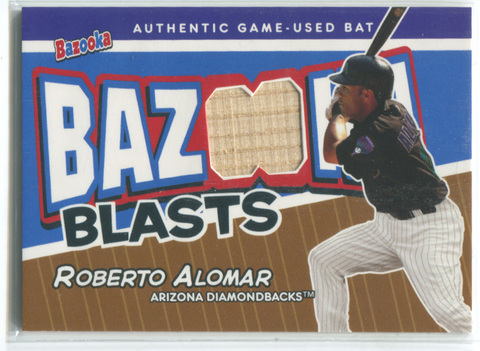 2004 Topps Bazooka #BB-RA Roberto Alomar Game-Used Bat Card