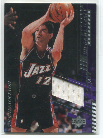 2000 Upper Deck #ST-C John Stockton Jersey Card