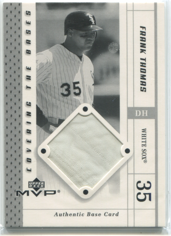 2003 Upper Deck MVP Covering The Basese #CB-FT Frank Thomas Base Card