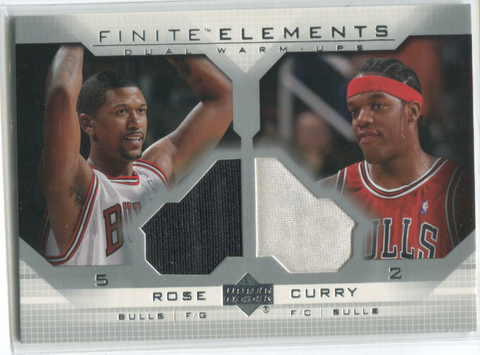 2003 Upper Deck Finite Elements Dual Warm-Ups #FE12 Jalen Rose & Eddy Curry