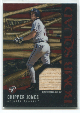2003 Topps Bomb Squad #PBSCJ Chipper Jones Bat Card