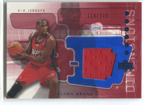 2004 Upper Deck 3-D Jerseys #3DJ29 Elton Brand Card 114/249