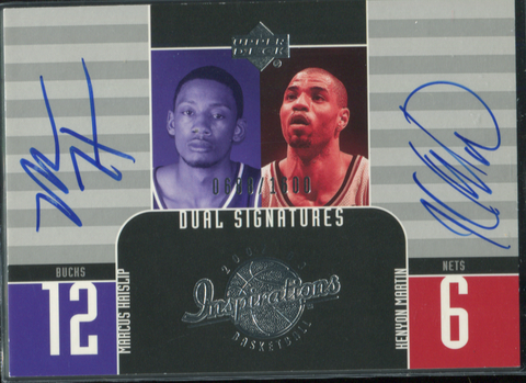 2003 Upper Deck Inspirations Dual #135 Marcus Hatslip/Kenyon Martin Autographed Card 0688/1600