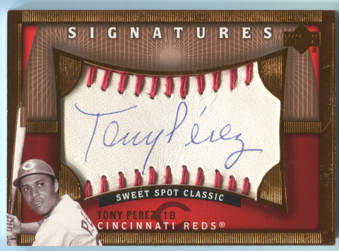 2005 Upper Deck Sweet Signatures #TP Tony Perez Autographed Card
