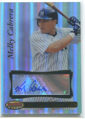 2007 Bowmans Best #35 Melky Cabrera Autographed Card
