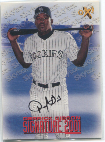 2001 Skybox Signature Derrick Gibson Autographed Card