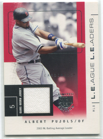 2004 Fleer Skybox L.E Edition Game Worn Jersey 03/75 #LL-AP Albert Pujols Card