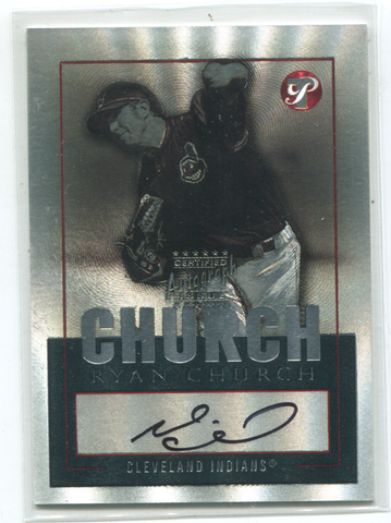 2003 Topps Certified Autograph Issue #TPA-RYC Ryan Church Autographed Card