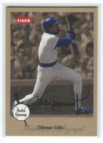 2001 Fleer Greats Andre Dawson Autographed Card