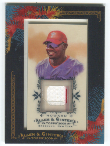 2009 Topps Allen & Ginter #AGR-RH Ryan Howard Card