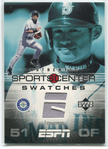 2005 Upper Deck Sportscenter Authentic Swatches #GU-IS Ichiro Suzuki Card