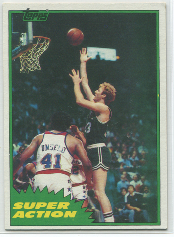 Larry Bird 1981 Topps Super Action #101 Card