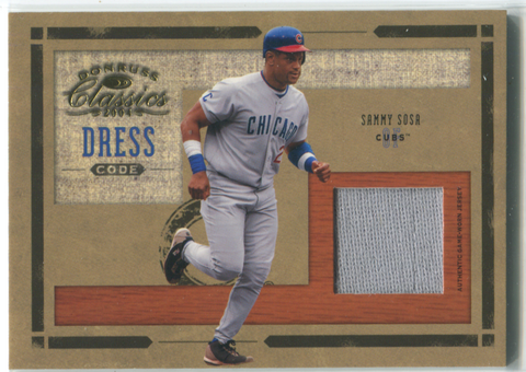2004 Donruss Classic Dress Code #DC-20 Sammy Sosa Jersey Card 026/100