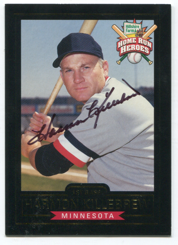 Home Run Heroes Hillshire Farm Harmon Killebrew Autographed Card