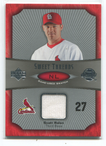 2005 Upper Deck Sweet Threads Game Used Swatch #ST-SR Scott Rolen Card