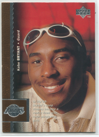 1996 Upper Deck #58 Kobe Bryant Card